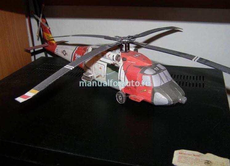 модель вертолета Sikorsky из бумаги