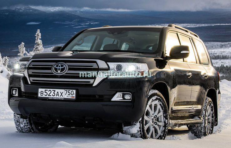 схема установки на Toyota Land Cruiser