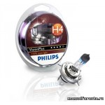 Лампа Philips H4 (60/55) P43T-38+50% V.PLUS 12V2шт