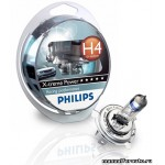 фото Лампа Philips H4(60/55)P43T-38+80% X-TREME P. 2шт