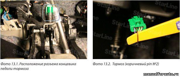 Сигнал стояночного тормоза на Citroen C-Elysee присутствует в шине CAN