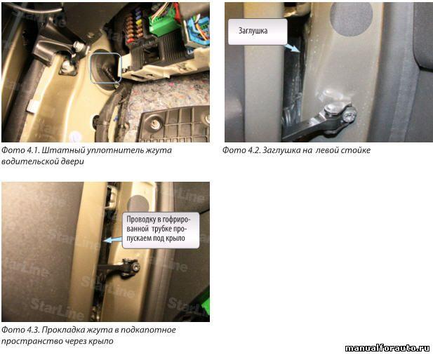 проводки водительской двери Citroen C-Elysee