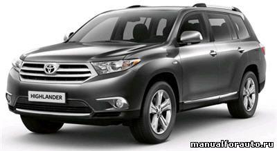 Toyota Highlander руководство по эксплуатации