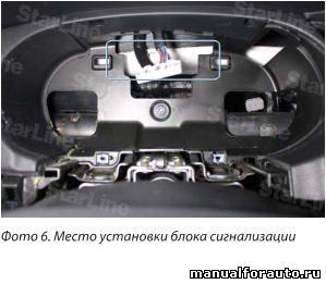 Блок сигнализации прячем за приборным щитком Hyundai Sonata
