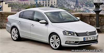 Установка сигнализации Volkswagen Passat B7, точки подключения