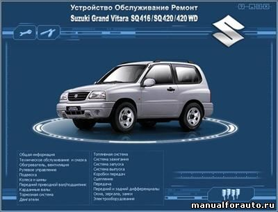 Suzuki Grand Vitara Мультимедийное руководство по ремонту и обслуживанию автомобиля SQ416/SQ420/420 WD