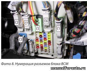 Большинство подключений выполняем на разъемах блока ВСМ