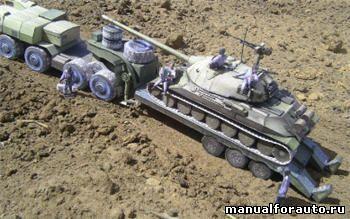 Танк ИС-7 Модель из бумаги
