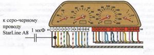 Схема подключения к тахометру