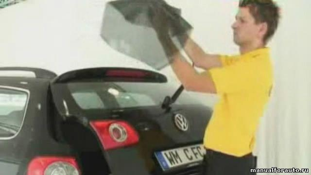 Тонировка стекол автомобиля, Тонировка своими руками. Видео