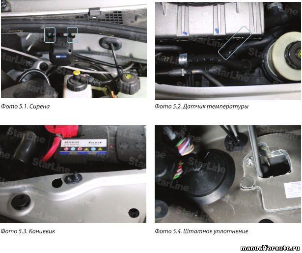 Провода протягиваем через штатный уплотнитель Renault Duster
