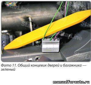 Особенностью данного автомобиля является то, что концевик багажника объединен с концевиками задних дверей