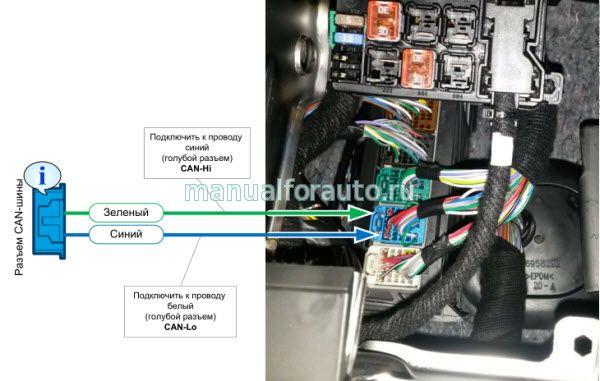 Подключение разъема CAN Chevrolet Tracker