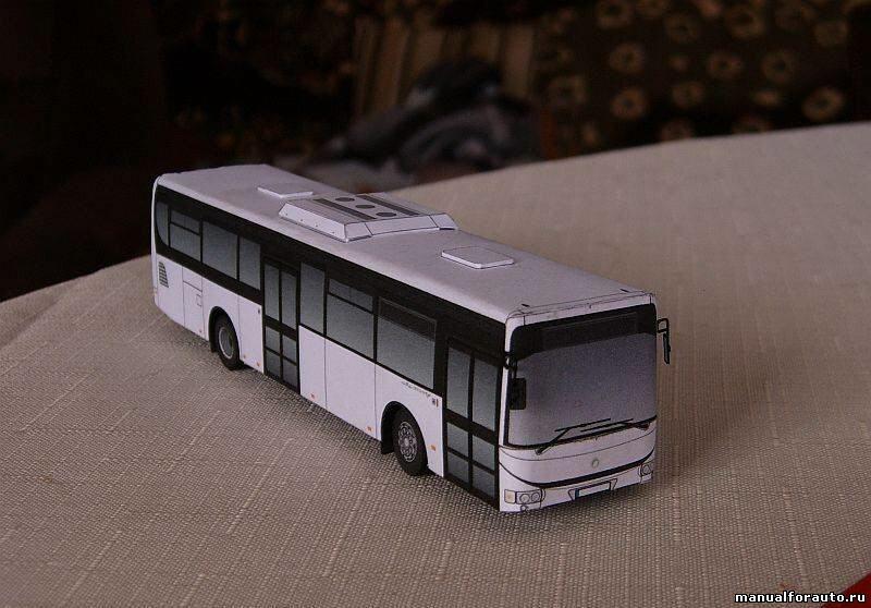 Автобус Iveco Модель из бумаги