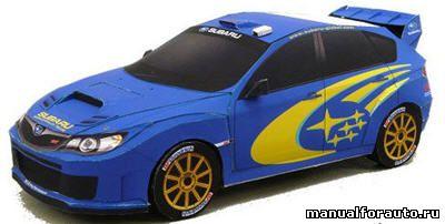 Subaru Impreza WRC модель из бумаги