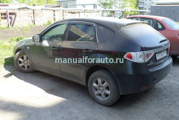 Subaru impreza Установка сигнализации