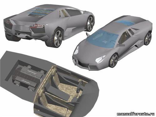Lamborghini Reventon Модель из