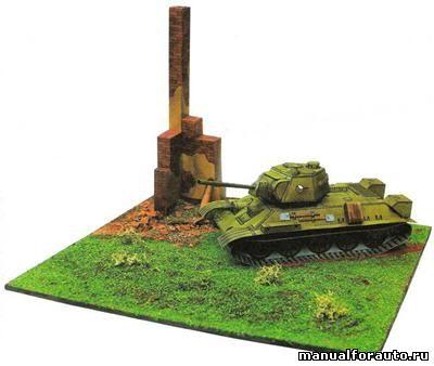 Танк Т-34 Модель из бумаги