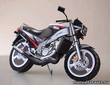 Yamaha TZR125 модель из бумаги