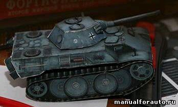 Немецкий Танк Леопард VK1602 Модель из бумаги