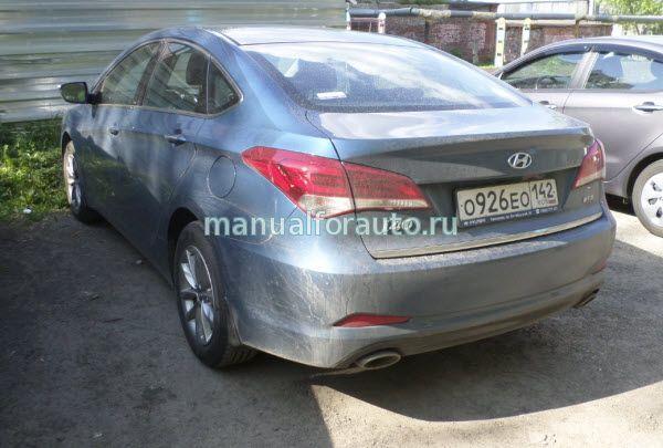 Установка сигнализации Hyundai i40, точки подключения
