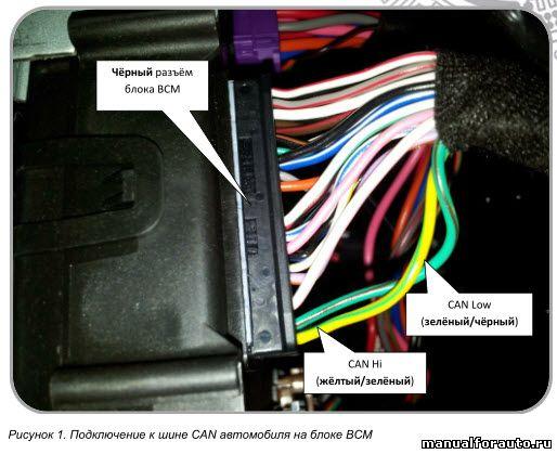 Подключение CAN шины Geely Emgrand X7