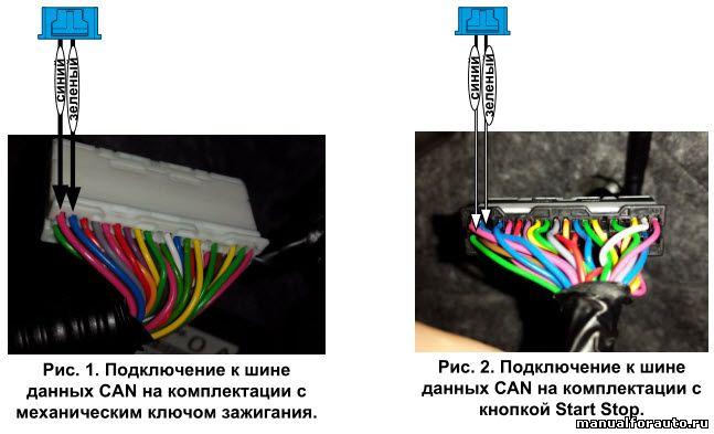 Подключение CAN шины Nissan Tiida C13