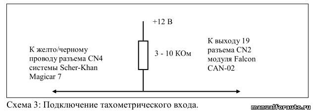 Подключение сигнала тахометра