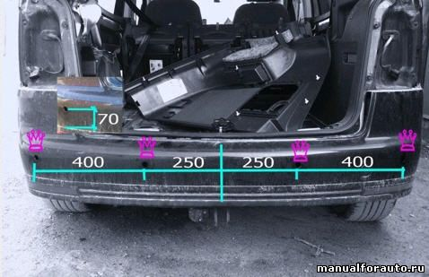 Делаем разметку на бампере Volkswagen Touran