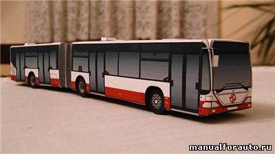 Автобус Mercedes модель из бумаги