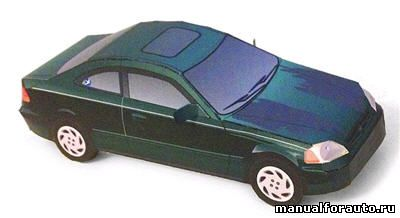 Honda Civic модель из бумаги
