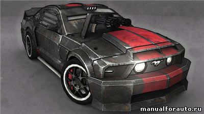 Ford Mustang GT Модель из бумаги