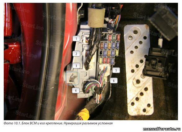 Установка сигнализации Mazda 6